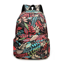 Printing Backpack Canvas Bag Fashion Women Backpack School Bags For Teenagers Girls Durable Laptop Backpack Casual Travel Bag laptop backpack black women notebook women laptop bag school bags for teenagers travel business office worker z192