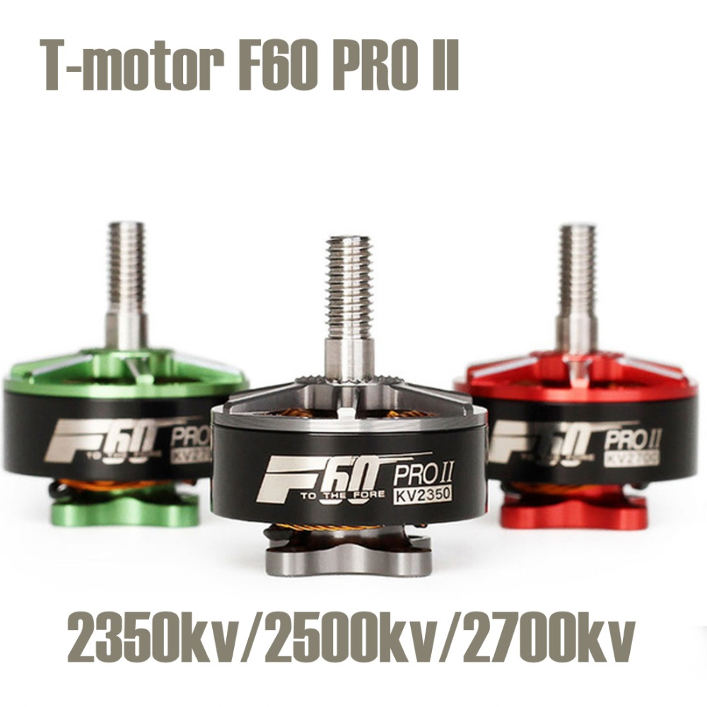 T-motor F60 PRO II 2350KV 2500KV 2700KV 3-4S FPV Brushless Electrical Motor for RC Multirotor FPV Racing Drone Quadcopter t motor mn1804 2400kv brushless motor for rc quadcopter multirotor