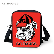 ELVISWORDS Flaps Messenger Bags Small Cute Women Cartoon Bulldogs Print Pattern Girls Crossbody Bag Fashion Shoulder Purses