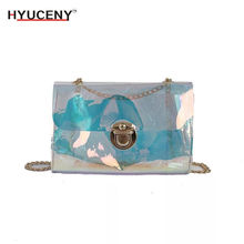New designs Clear Bag PVC Plastic Quilted Border Transparent Candy Summer Beach Bags Womens Shoulder Luxury Brand Mini
