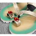 Batzuzhi Luxe Gloednieuwe Schoenen Fashion Leather Slippers Flip Flops Open Teen met Grote Crystal Flats Strand Sandaal Schoenen mannen - 3