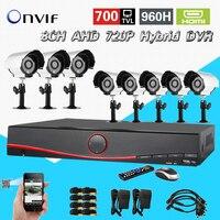 CCTV Video Surveillance HI3521 8ch AHD 720P 960h Recording DVR NVR System 700tvl Outdoor Camera Kit