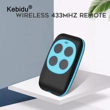 Kebidu מעתק שלט רחוק 433mhz פלסטיק עותק שלט רחוק למידה סוג 4 כפתורים אלחוטי מרחוק לשערים