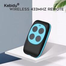 Kebidu duplicador de controle remoto 433mhz cópia plástica controle remoto tipo aprendizagem 4 botões controle remoto sem fio para portões