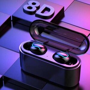 Image 3 - Tai nghe Bluetooth không dây q32s Phiên bản cập nhật Tai Nghe Nhét Tai Không Dây tai nghe TWS thể thao Bluetooth 5.0 Stereo Tai nghe với quà tặng