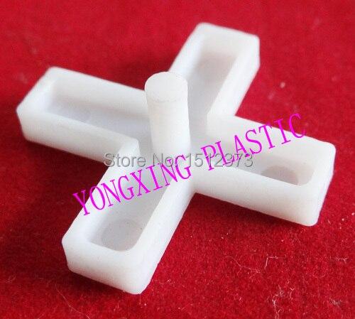 200pcs/bag 6.0mm With Handle Plastic Cross/ Tice Spacer/tracker/locating/ceramic Cross  White Color Locate The Ceramic Tile