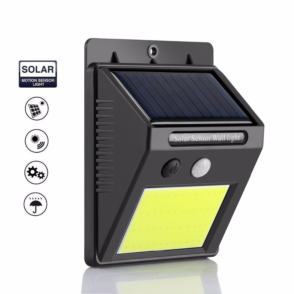 1PC Rechargeable LED Solar Light Outdoor Fence Garden Lamp Decoration PIR Motion Sensor Night Security Wall Bulb Waterproof ...