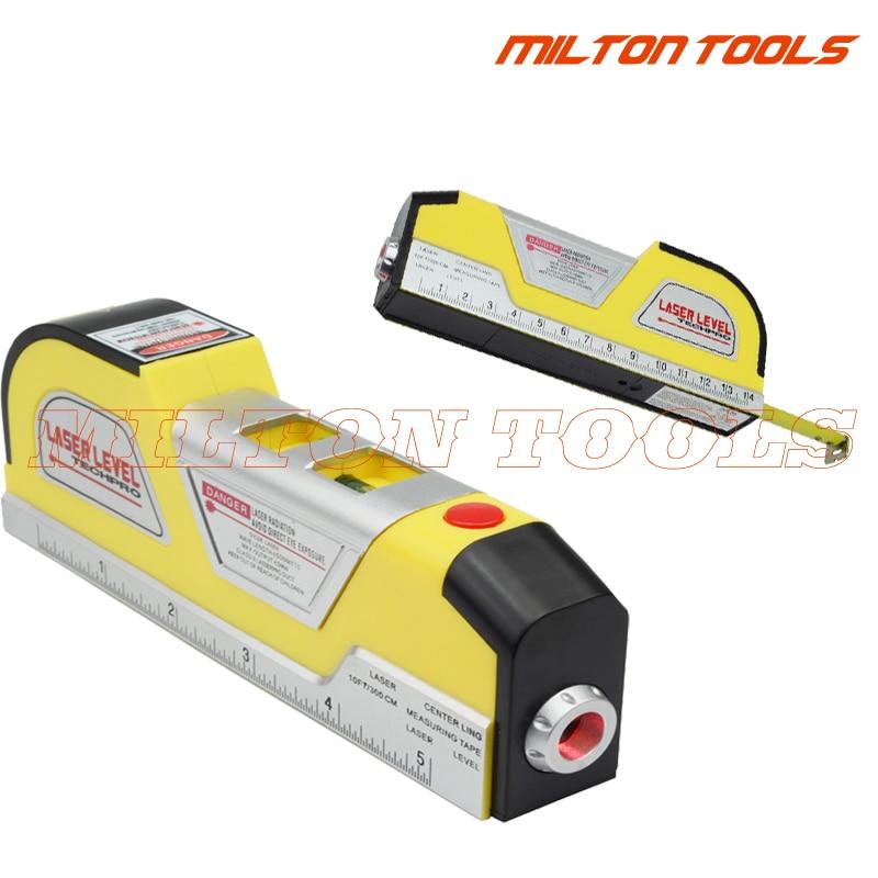 Spirit Level Battery Included Laser Level Multipurpose Measuring Tool Tape Measure