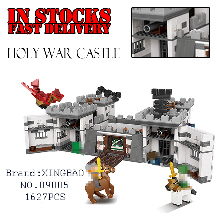 Xingbao 09005 1627Pcs Minecraft Series The Castle of Holy War Model Educational Building Blocks Bricks Toys for children Gifts