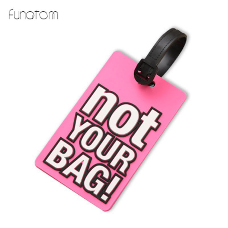 Not Your Bag New Suitcase Luggage Tags Identifier Label ID Address Holder Cover Luggage Tag Travel Accessories