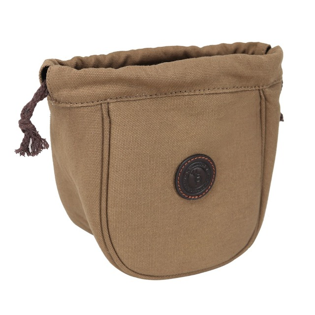Tourbon Hunting Shotgun Canvas Cartridge Pouch Ammo Shell Bag Speed Loader  Bullet Case Carrier with Drawstrings for Shooting