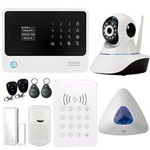 G90B WIFI GSM Wireless Home Seguridad Sistema de Alarma con Cámara IP de Hueco de la Puerta RFID Teclado de Alarma del Sensor PIR Detector