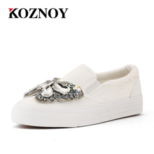 2017 Platform Lace Rhinestone Espadrilles Shoes Shoes Luxury Brand slip on Women crystal Shoes bow wedding