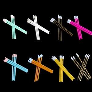 Image 2 - 1000 шт. одноразовых косметических искусственных помад, Кисть для макияжа, ручка, помада, тушь, палочки