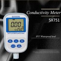 PH Meter ORP Meter Portable Measuring Instrument Conductivity Meter Digital Dissolved Oxygen Analyzer SX751