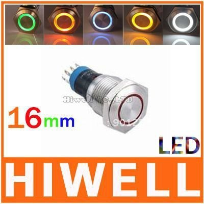 Latching LED metal pushbutton switch 16mm 1NO1NC, 100% quality products, good sales