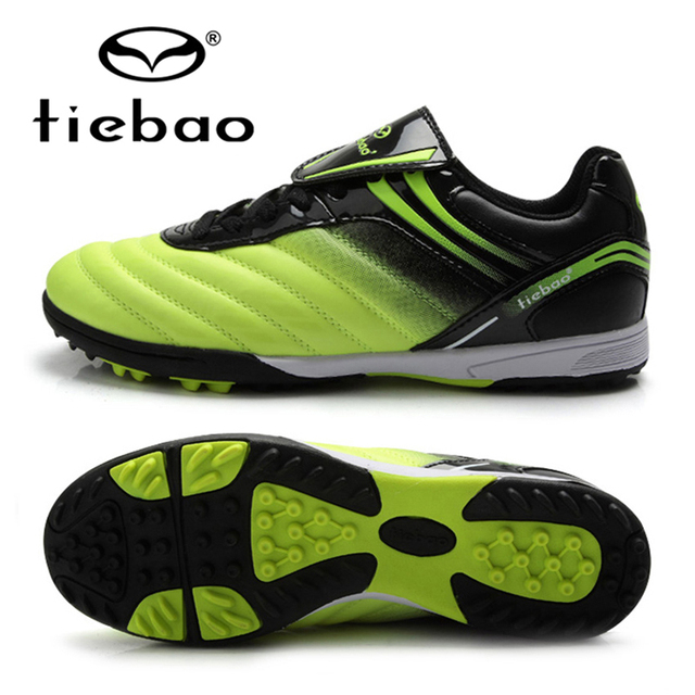 TIEBAO Professional Kids Children Sneakers Outdoor Sport Football Shoes TF Turf Rubber Soles Boys Girls Football Boots EU 30-38