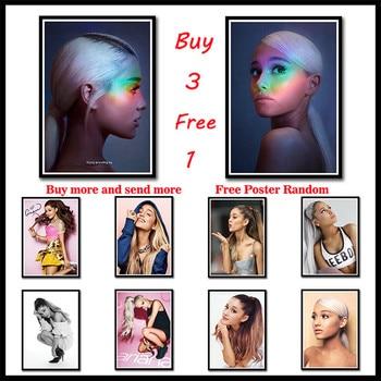 Ariana grande, adornos de pared de papel recubiertos, pósteres de álbum de estrellas de chica y pintura artística para sala de estar, decoración para el hogar sin marco