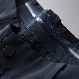 Image 4 - Minglu Sommer Herren Hosen Luxus Business Mode Elastische Herren Anzug Hosen Hight Qualität Elastische Bund Dünnen männer Hosen