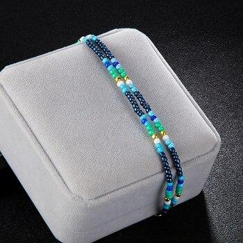 Noter New Fashion Anklets For Women Girls Dark Blue Tassel Foot Bracelet Summer Beach Jewelry Feet Accessories Best Friend Gift 3