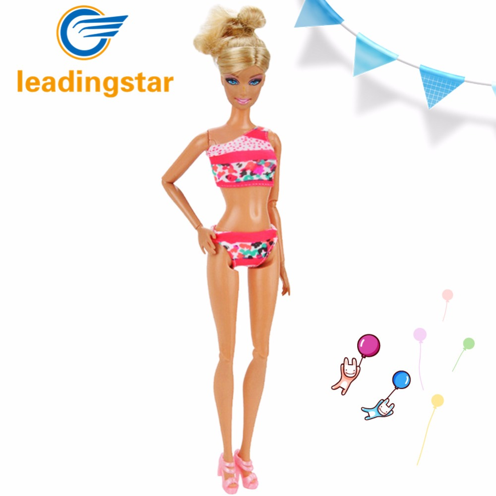 LeadingStar 5pcs Princess Barbie Seaside Beach Sexy Swimsuit Toys slim dress Set for 29cm Dolls hatber optimum barbie the pearl princess 20627