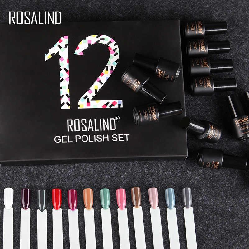 (12 unids/lote) ROSALIND 7ML esmalte de Gel de uñas de Color sólido esmalte de Gel de larga duración y Bluetooth