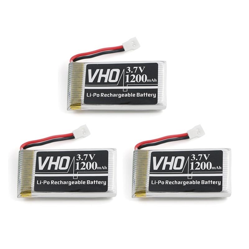 VHO 3PCS 3.7V 1200mAh Lipo Battery Syma X5SW X5SC X5S X5SC-1 M18 H5P RC Quadcopter 3.7V 1200mAh 25C battery for SYMA X5SW X5SC
