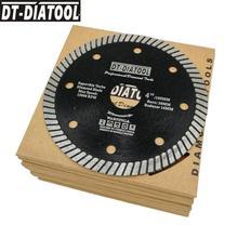DT-DIATOOL 10pcs 5inch Superthin Turbo Diamond blade 125MM Hot Pressed cutting disc Hard Material Ceramic Tile Granite