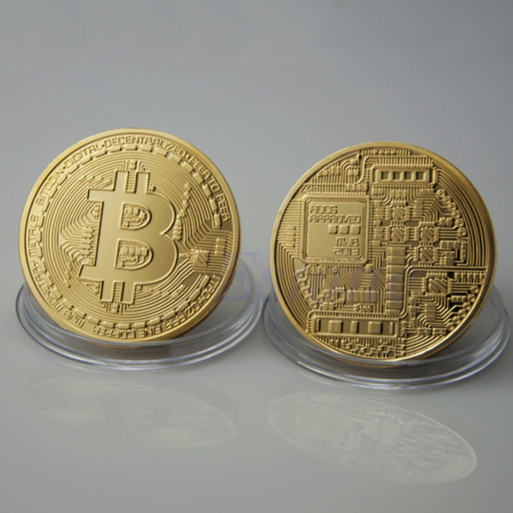 Gold Plated Bitcoin Coin Collectible BitCoin Art Collection Gift Physical In Non Currency Coins From Home Garden On Aliexpress