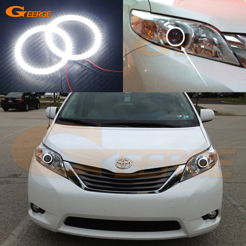 For Toyota Sienna 2011 2012 2013 2014 Excellent Ultra bright illumination smd led Angel Eyes Halo Ring kit
