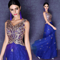 s 2016 new arrival stock maternity plus size bridal gown  evening dress long sexy graduation graduated Blue Diamond 2492