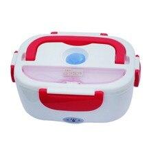 Портативный 1.05L Электрический нагревательный Ланч-бокс с автомобильной вилкой, подогреватель пищи для школы, офиса, дома, пластиковая посуда