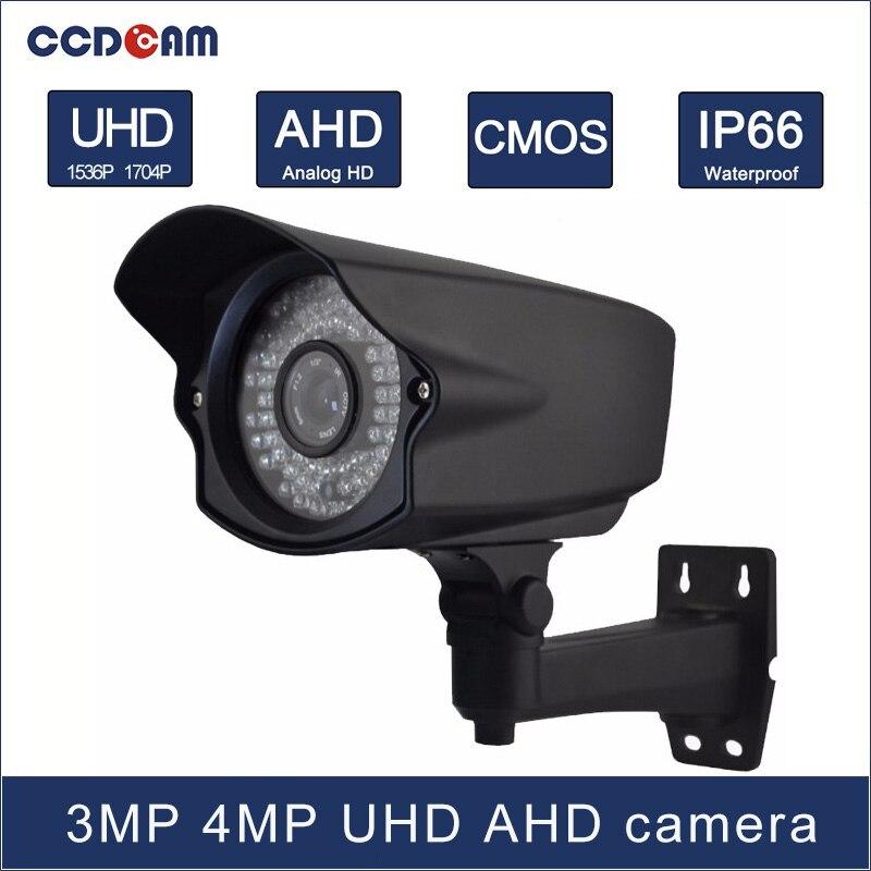 CCDCAM 3MP 4 MP Ultra HD vision AHD Waterproof camera with 72 pcs IR leds 60m IR distance