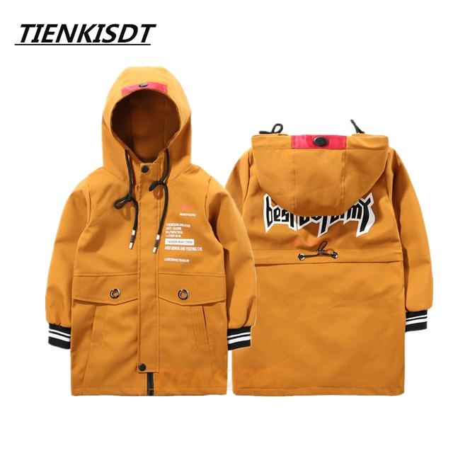 c97e0ac94 Tiny Cottons Zipper Solid Hooded Long Jacket Coat Juventus Boys Tops ...