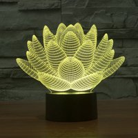 3D Led Night Light Novelty Lotus 3D Bulbing USB Touch Switch Table Lamp Star Wars Luminaria
