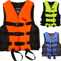 5 Sizes Professional Swimwear Polyester Adult Life Jacket Foam Vest Survival Suit For Swimming Drifting Surfing