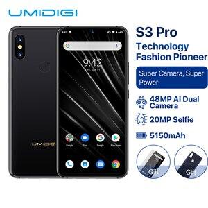 "Image 1 - UMIDIGI S3 PRO Android 9.0 48MP + 12MP + 20MP Super kamera 5150mAh duża moc 128GB 6GB 6.3 ""FHD + NFC ceramiczne globalne zespoły Smartphone"