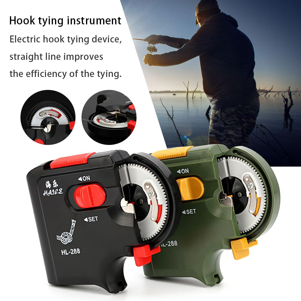 Automatic Portable Electric Fishing Hook Machine Fishing Line Accessories Quick Tie Tying Device Equipment For Fisher Tools in Fishing Tools from Sports Entertainment