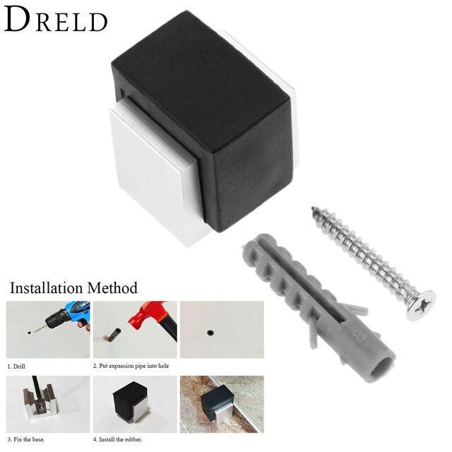 4e5061e1aa6 Dreld goma Topes Materiales para muebles aleación doorstop puerta de madera  higiénico cristal piso puerta Tapones