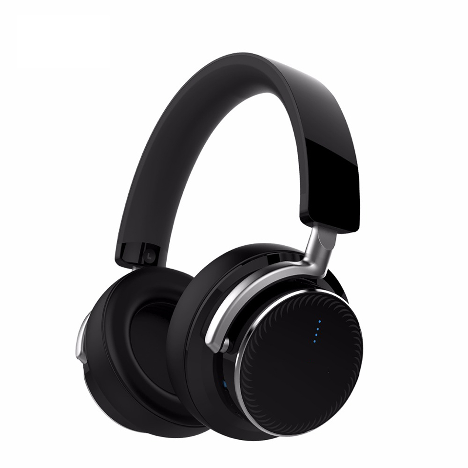 Wireless Bluetooth 4.2 Active Noise Cancelling Bluetooth Headphone with Touch Sensitive Control Stereo ANC Over Ear Headset aptX wireless stereo bluetooth headset touch control stereo sound audio games