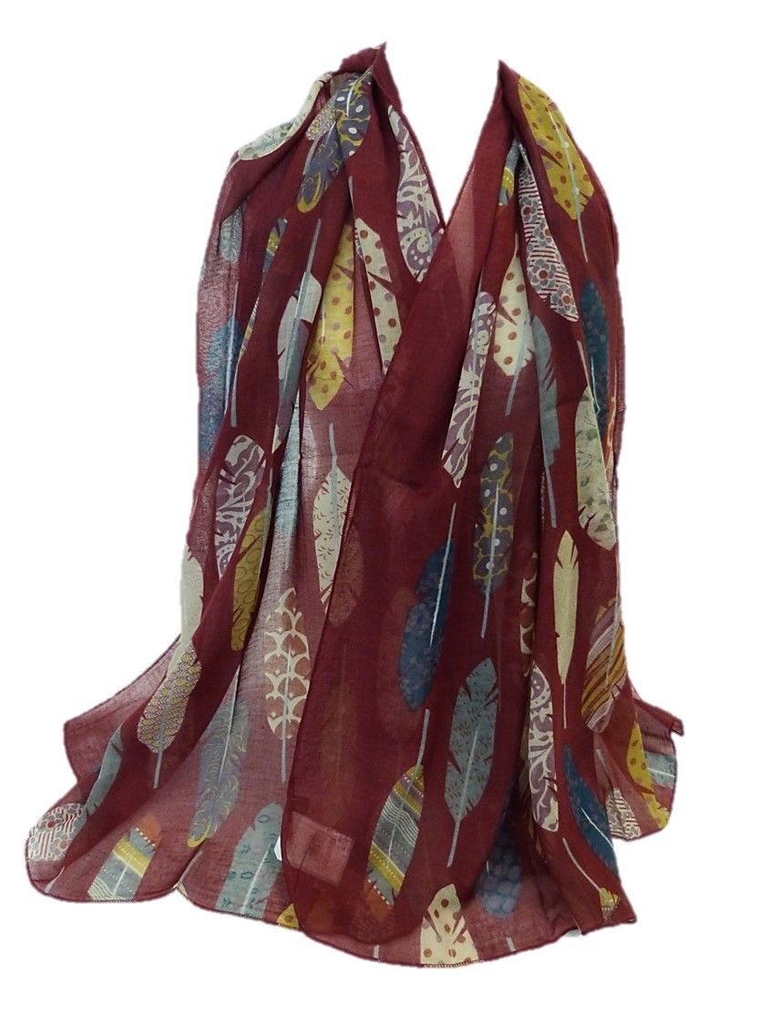 Brand new peacock feather printed long scarf wrap beach cover 10pcs/lot free shipping