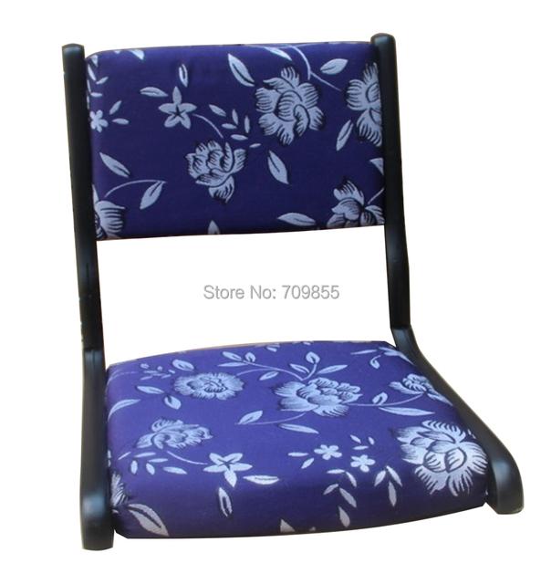 (2 pçs/lote) Mobília Da Sala de Cadeira Tatami Japonês Pernas Dobráveis Acabamento Preto Asiático Tradicional Piso Zaisu Cadeira Sem Pernas