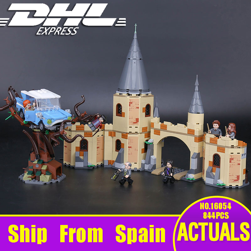 DHL 16054 Harry Movie Potter The Legoinglys 75953 Hogwarts Whomping Willow Set Building Blocks Kids Toys Christmas Gifts Model