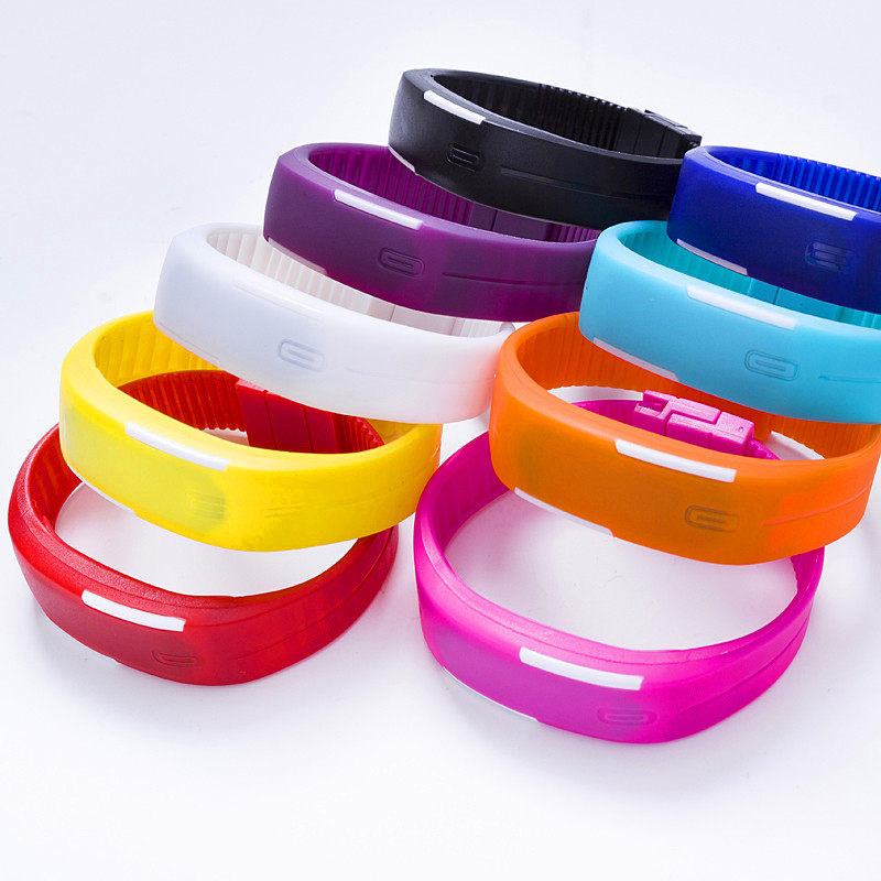 LED Digital Watch Electronic Wristwatches Korean Lovers Men Women Watches Creative Calendar Colorful Rubber Smart Montre Femme