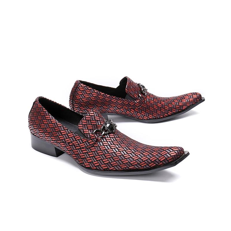 Mocasines Diseño Moda Toe Picture Hebilla Nueva As Formal Us12 Los De Hombres Tamaño Boda Vestido 46 37 Traje Zapatos Llegada Más Square Yxqxv8