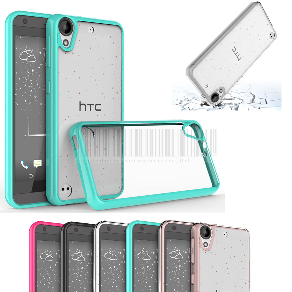 new concept 51787 4f906 US $2.22 45% OFF|Case For HTC Desire 530 630 Anti shock Hybrid TPU+Acrylic  Clear Case Crystal Transparent Cover For Cricket HTC DESIRE 555-in Fitted  ...