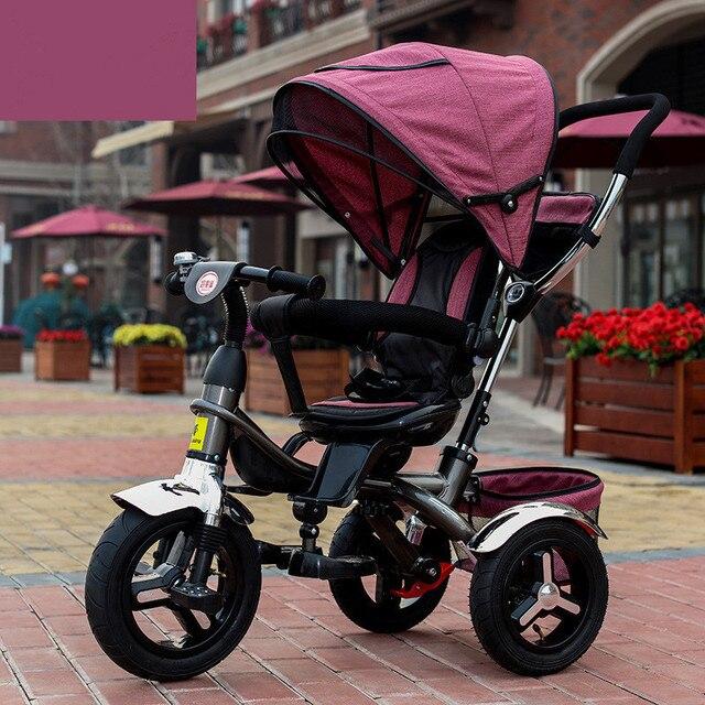 5db1d422ef Geniune Sedile Girevole Pieno Sunshed Bambino Triciclo Trolley Bambino  Bambino Passeggino Carrozzina Bicicletta Della Bici Per