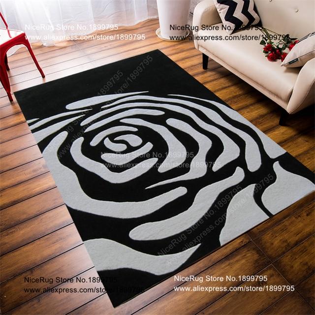 Rose Carpet Black Rose Matte 70 140 Cm Moderne Teppiche Fur