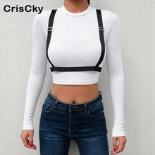CRISCKY New Summer Woman Cotton T-shirt Top Women O Neck Long Sleeve Casual Solid T Shirts Crops Tops Ladies Tees