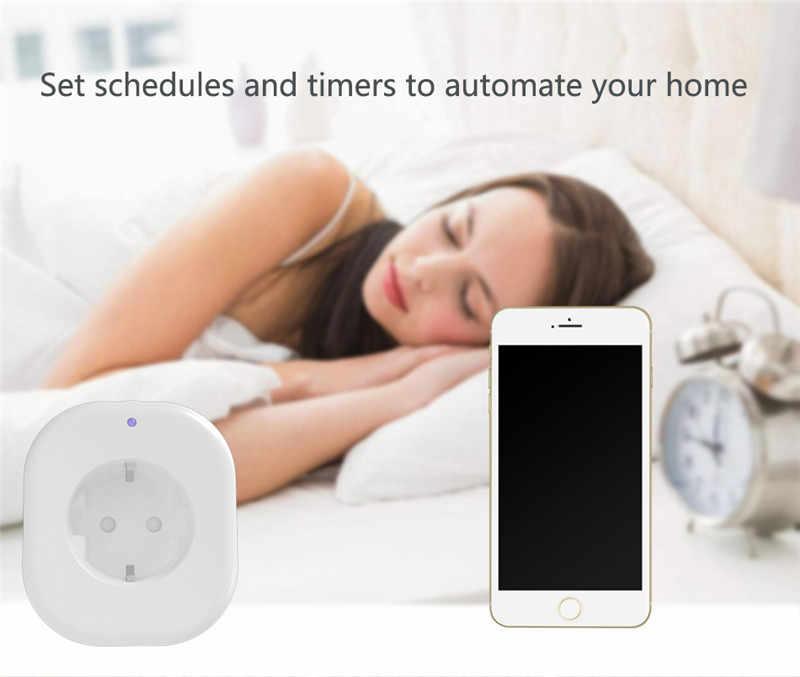 WiFi télécommande sans fil prise de courant intelligente EU US télécommande vocale prise domotique travail avec Google Home Alexa IFTT